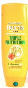 1 Garnier Fructis 13 Oz Triple Nutrition Dry Damaged Hair Fortifying Conditioner