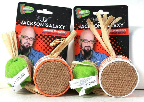 2 Count Petmate Jackson Galaxy With Fresh Organic Catnip Marinater Toy Multipack