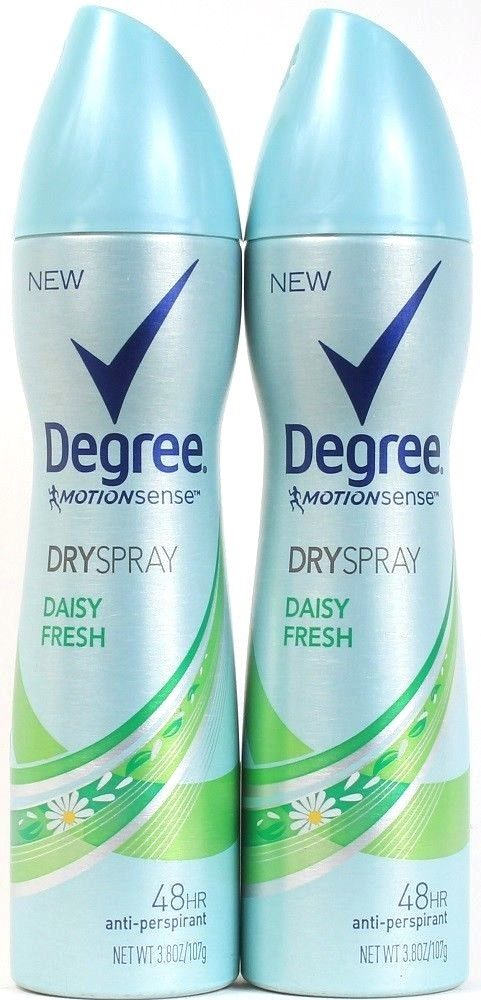 2 Degree Motion Sense 3.8 Oz 48 Hr Anti Perspirant Dry Spray Daisy Fresh