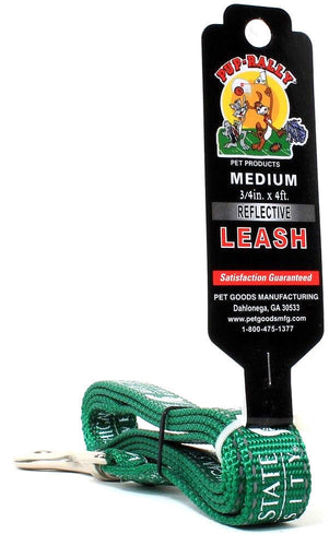 Pup-Rally Pet Products Medium .75 In X 4 Ft Reflective Michigan State Dog Leash
