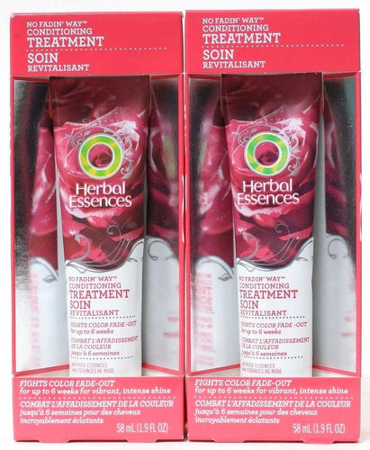 2 Herbal Essences No Fadin' Way Conditioning Treatment for Color Hair 1.9oz