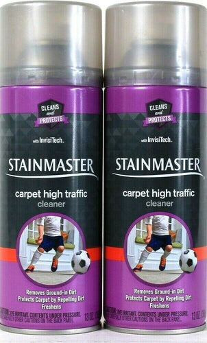 2 Cans Stainmaster 13 Oz Clean & Protect InvisiTech Carpet High Traffic Cleaner