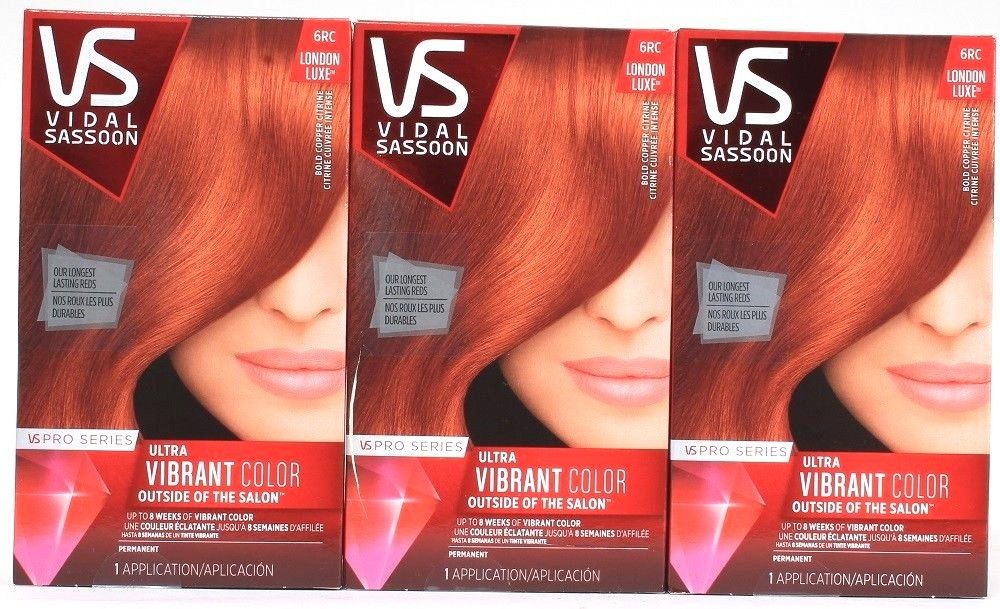 3 Vidal Sassoon London Luxe 6RC Bold Copper Citrine Vibrant Color 1 Application