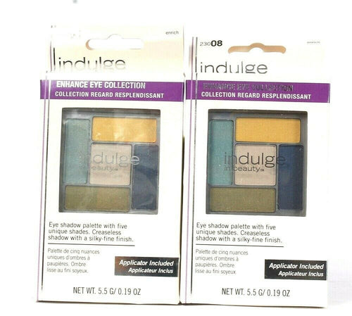 2 Count Indulge In Beauty 0.19 Oz Enhance Eyeshadow Collection 23008 Enrich