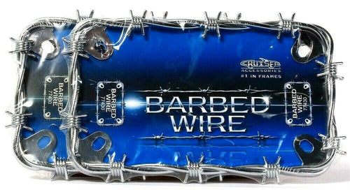 2 Count Cruiser Accessories 77430 MC Barbed Wire Chrome Frame