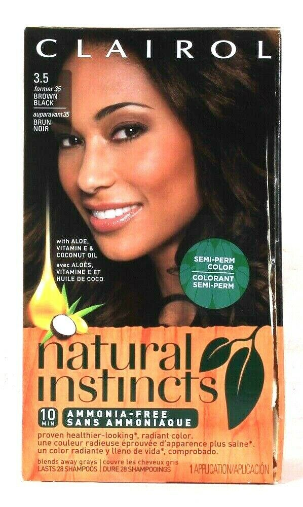 1 Damaged Box Clairol Natural Instincts 3.5 Brown Black Semi Permanent Color