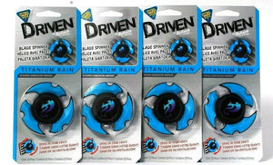 4 Ct Driven By Refresh Your Car Titanium Rain Vent Blade Spinner Air Freshener