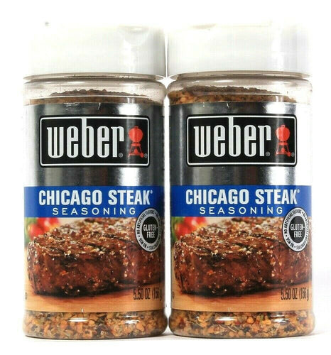 2 Count Weber 5.50 Oz Chicago Steak Seasoning Artificial Flavors Gluten Free