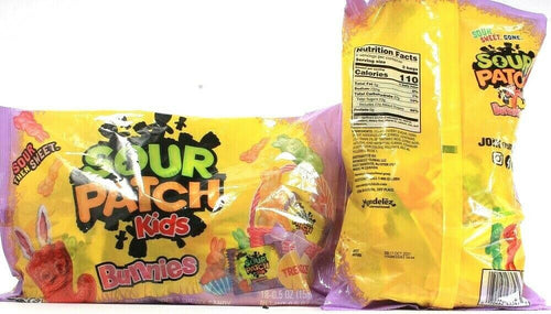 2 Sour Patch Kids Bunnies Candy Sour Then Sweet BB 10-17-2021 Easter Treat 13 oz
