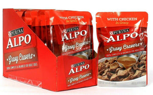 12 Count Purina 3.5 Oz Alpo Gravy Cravers With Chicken Adult Dog Food BB 3/2022