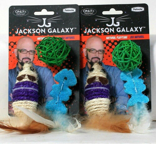 2 Petmate Jackson Galaxy Natural Playtime 3 Count Sisal & Hemp Cat Toys