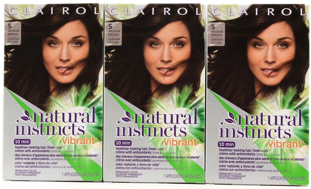 Clairol Natural Instincts 5 Coffee Boost Medium Brown Vibrant Hair Color
