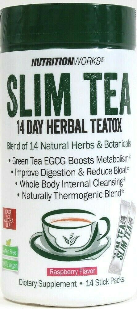 1 NutritionWorks 14 Ct Raspberry Slim Tea 14 Day GF Vegan Herbal TeaTox BB 6/20