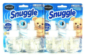 2 Packs Renuzit 1.34 Oz Snuggle Linen Escape 2 Count Universal Plug Refill
