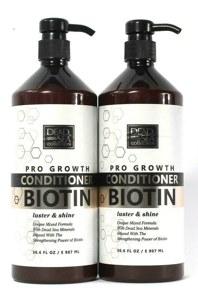 2 Bottles Dead Sea Collection 30.6 Oz Pro Growth Biotin Strength Conditioner