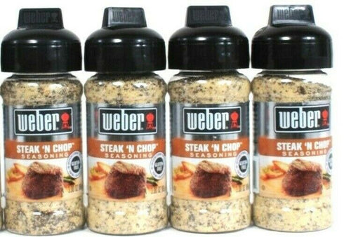 4 Ct Weber 3 Oz Steak N Chop Gluten Free No MSG Bold Flavor Seasoning BB 11/21