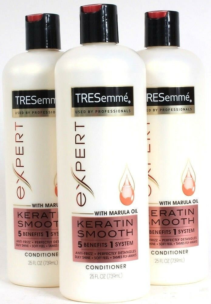 3 Tresemme Expert 25 Oz Keratin Smooth 5 Benefits Conditioner With Marula Oil