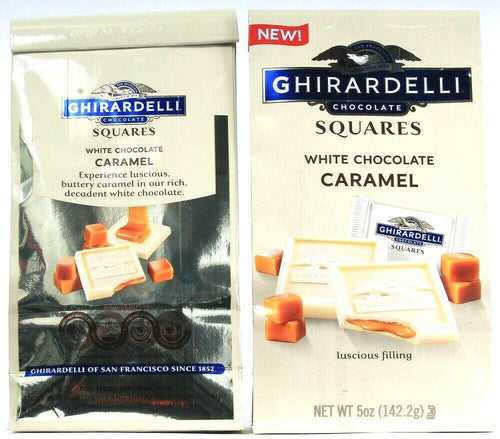 2 Bags Ghirardelli Chocolate White Chocolate Caramel Squares 5 Oz  BB 5-31-21