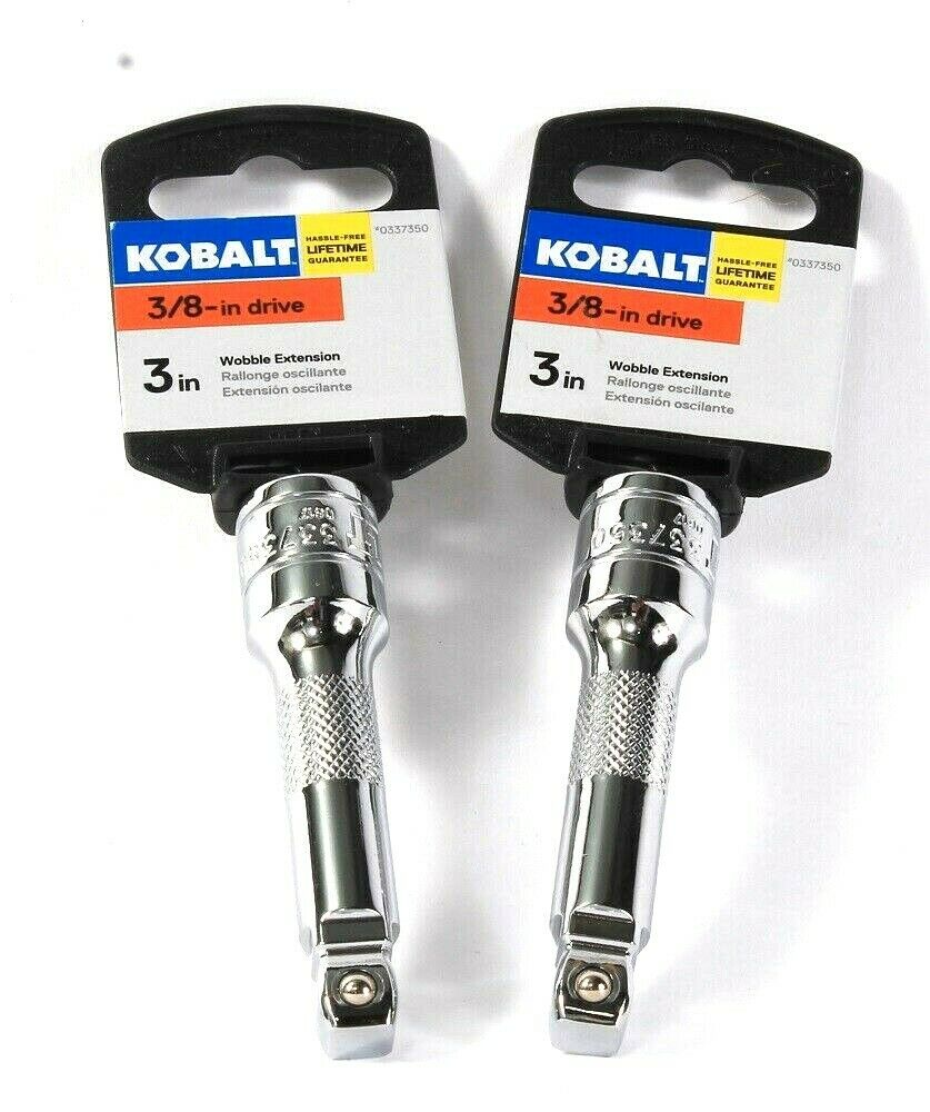 2 Count Kobalt 0337350 3 Inch 3/8 Inch Drive Wobble Extension