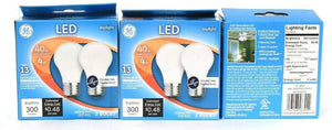 3 Packs GE LED A15 4w Daylight 300 Lumens 2 Count Frost Finish Ceiling Fan Bulbs