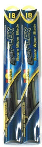 2 Ct Simoniz Core Flex 18 Inch Low Profile Premium All Weather Beam Wiper Blade