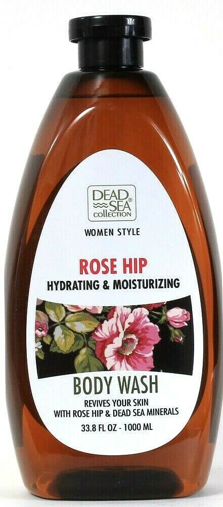 1 Dead Sea Collection 33.8 Oz Women Style Rose Hip Hydrating Moisture Body Wash