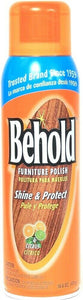 1 Ct Behold 16.6 Oz Citrus Brilliant Shine & Protect Furniture Cleaning Polish