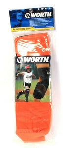 1 Pair Worth Orange Fastpitch Leg Guardd Durable Foam Pro Dri Fabric XL