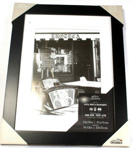 Gallery Solutions with Wall Grabber 12X16in Matted To 9X12in BLK Picture Frame