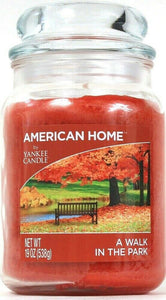 1 American Home By Yankee Candle 19 Oz A Walk In The Park Glass Jar Candle