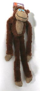 1 Count PetShop Fur Pawz Crinkle Brown Monkey Dog Toy Pet Approved