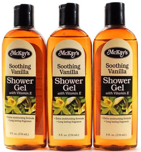 McKays Soothing Vanilla Shower Gel with Vitamin E 8oz Bottles