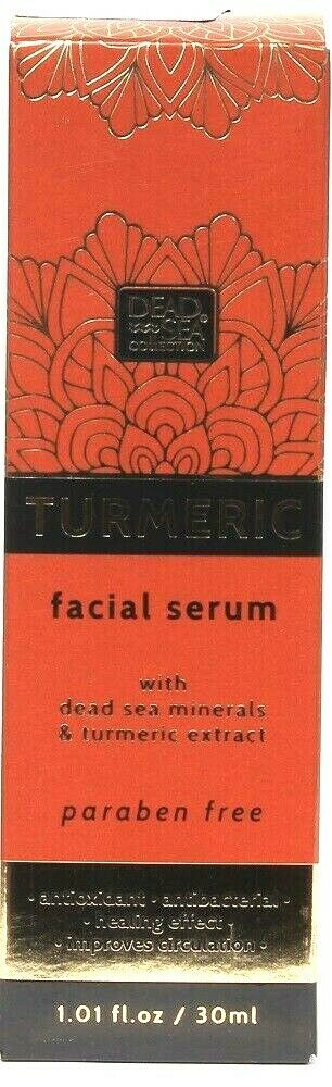 1 Dead Sea Collection 1.01 Oz Turmeric Extract Antioxidant Healing Facial Serum