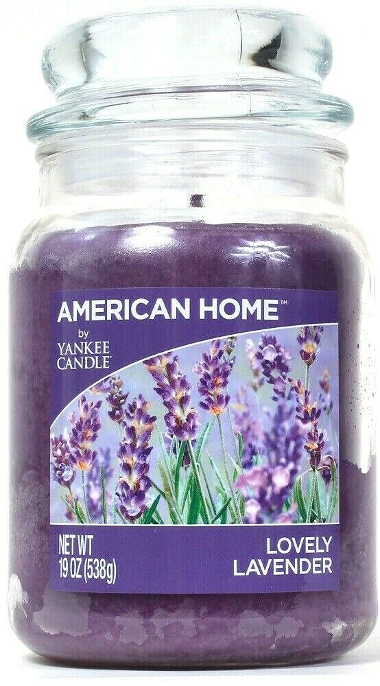 1 American Home By Yankee Candle 19 Oz Lovely Lavender Single Wick Glass Candle