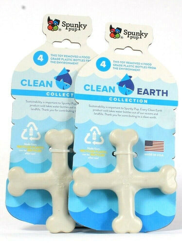 2 Count Spunky Pup Clean Earth Collection Made From Recycle Plastic Dog Toy