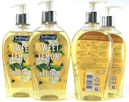 4 Ct Colgate Palmolive Softsoap Sweet Lemon & Gardenia Liquid Hand Soap 13Fl oz
