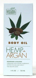 1 Count Natural Therapy 4 Oz Hemp & Argan Nourishing & Relax Natural Body Oil