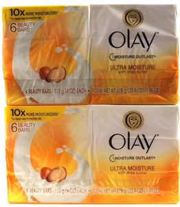 2 Olay Moisture Outlast with Shea Butter Beauty Bars 12 Bars Total