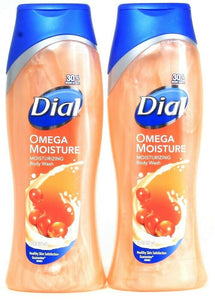 2 Bottles Dial 21 Oz Omega Moisture Balance Rich Lather Clean Rinsing Body Wash