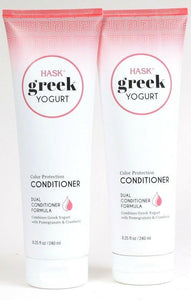 2 Hask 8.25 Oz Greek Yogurt Color Protect Pomegranate Cranberry Dual Conditioner