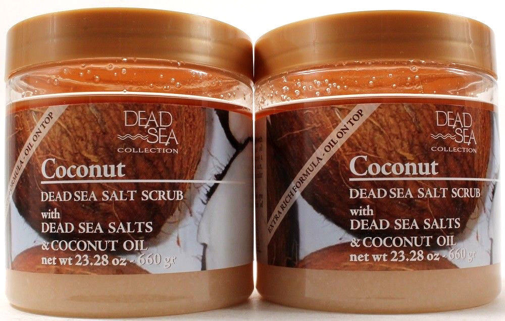 2 Dead Sea Collection Coconut Dead Sea Salt Scrub With Coconut Oil 23.28 Oz Each