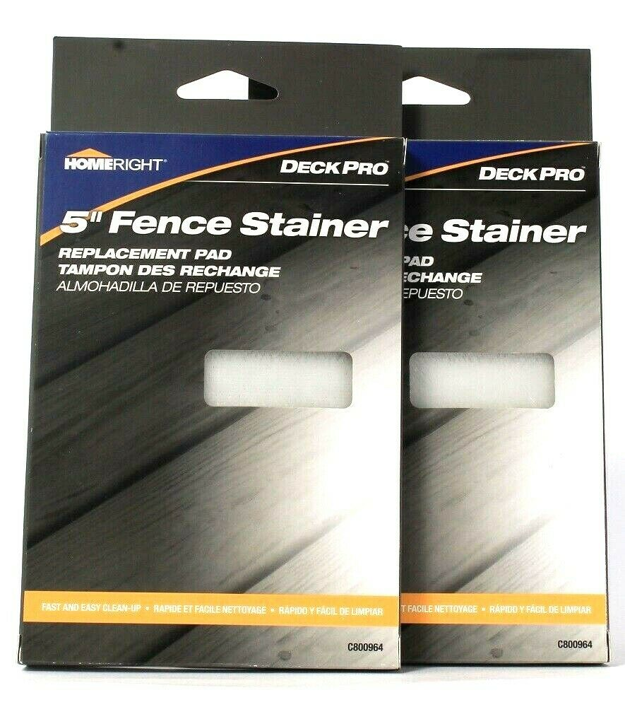 2 Count HomeRight Deck Pro 5 Inch Fence Stainer Replacement Pad Fast & Easy