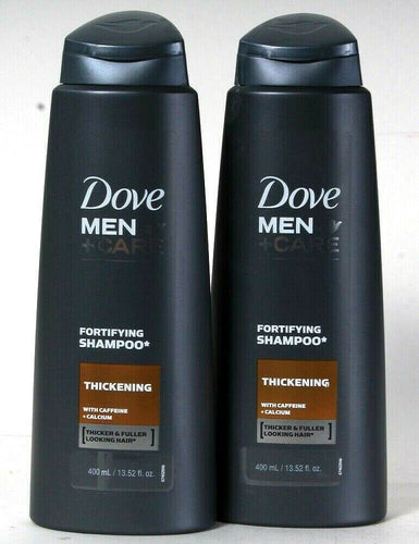 2 Bottles Dove 13.52 Oz Men Care Fortifying Thickening Caffeine Calcium Shampoo