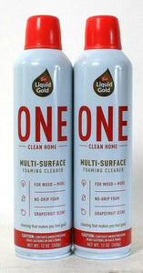2 Cans Scott's Liquid Gold 12 Oz One Clean Home Multi Surface Foaming Cleaner