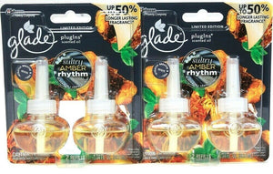 2 Glade PlugIns 1.34 Oz Limited Edit Sultry Amber Rhythm 2 Ct Scented Oil Refill