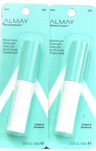 2 Ct Almay 0.13 Oz Blemish Armor Maximum Strength 2% Salicylic Acid Treatment
