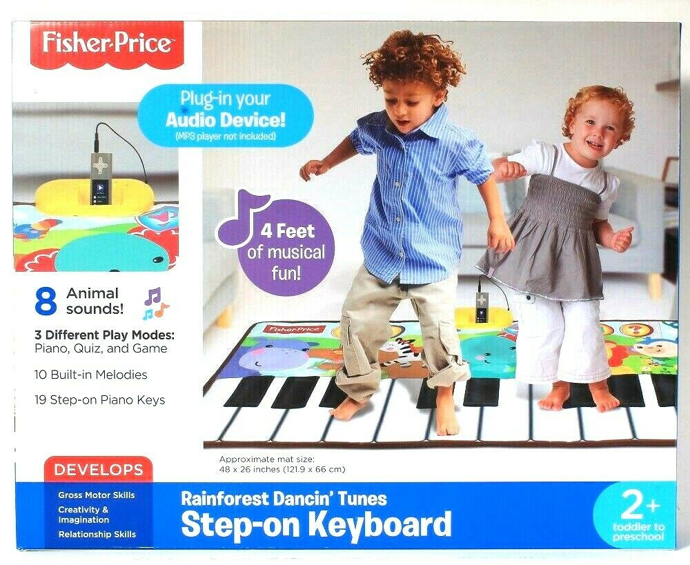 Fisher-Price Rainforest Dancin Tunes 4 Feet Of Musical Fun Step On Keyboard 2 Up