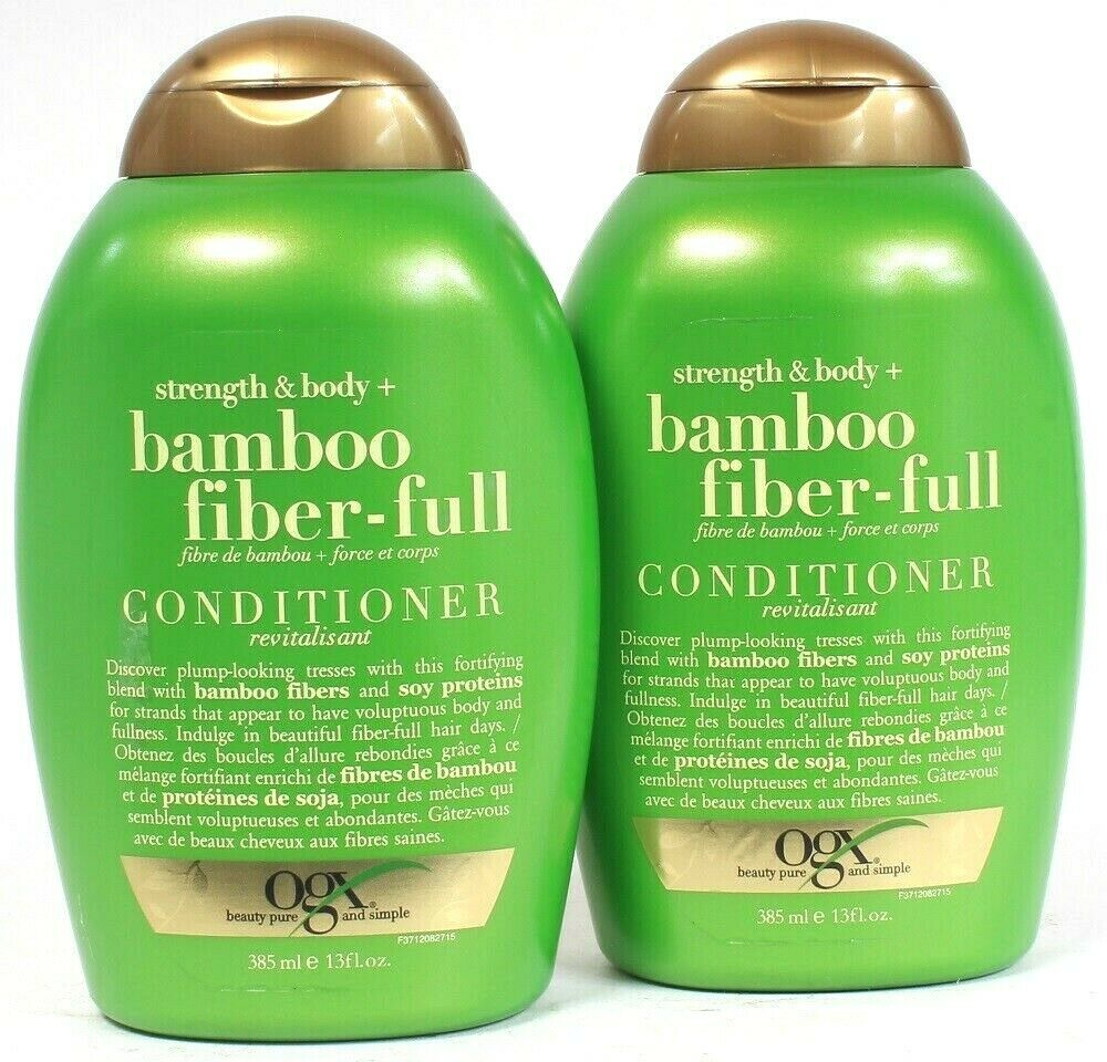 2 Ct OGX 13 Oz Bamboo Fiber Full Strength & Body Fortifying Blend Conditioner