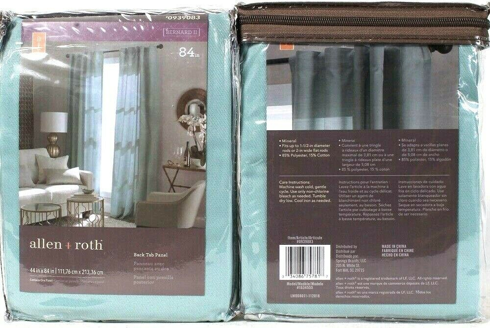 2 Count Allen & Roth 0939083 Bernard II Mineral 44 Inch X 84 Inch Back Tab Panel