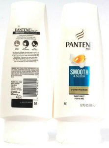 2 Count Pantene Pro V Smooth & Sleek Conditioner Fights Fizz For 48 Hours 12 oz